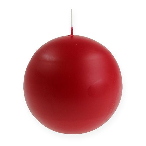 Velas de bolas 100mm rojo 6pcs