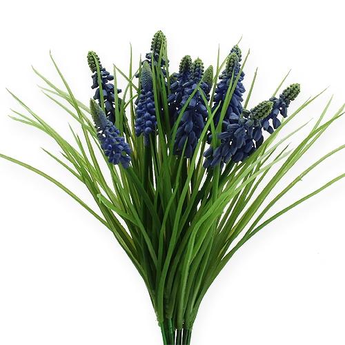 Jacintos de uva 28cm - 30cm azul 15ud