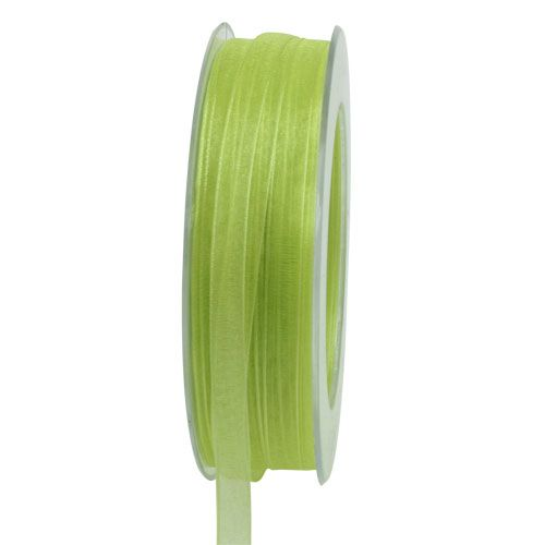 Cinta de organza con orillo 50m verde claro