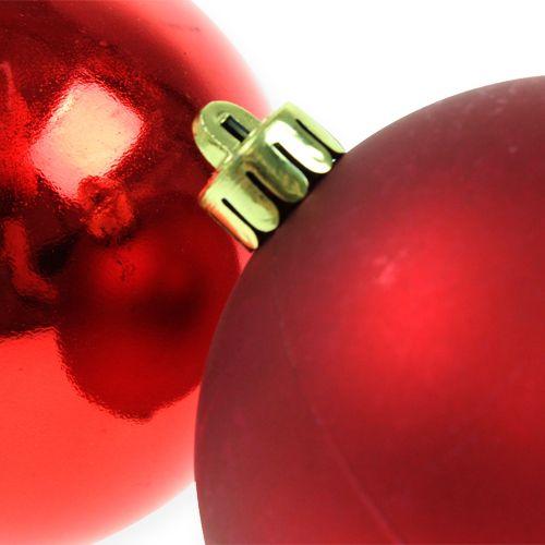Bola navideña roja 10cm 4pcs