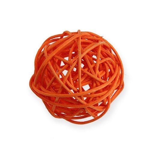 Bolas de ratán Ø4,5cm naranja surtido 30pcs