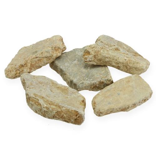 Piedras de mosaico en la red marrón claro mate 3cm - 8cm 1kg