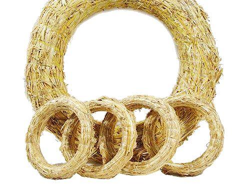 Coronas de paja Pida 10 piezas de espacios en blanco para coronas de paja