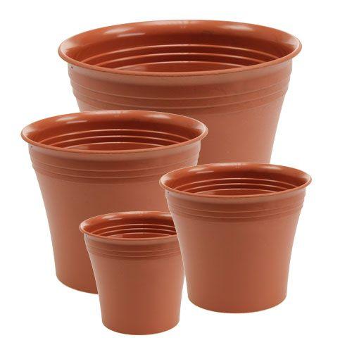 """Jardinera de terracota """"Michele"""" Ø 8,5 - 22 cm, 1p"""