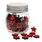 Vaso con estrellas rojo 9cm