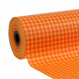 Puño de papel 25cm 100m Plaid naranja