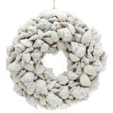 Corona de concha blanca Ø30cm