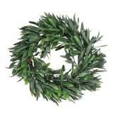 Corona de olivo verde artificial Ø28cm decoración mediterráneo
