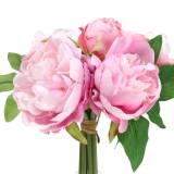 Ramo artificial con peonías rosa Ø27cm 1p