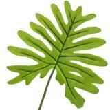 Hoja de filodendro verde 40cm