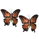 Mariposas con clip Marrón 6pcs