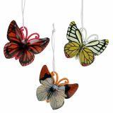 Mariposa para colgar colores surtidos 5,5cm 3pcs