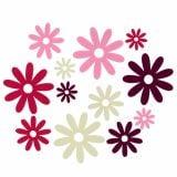 Mezcla de flores de fieltro Decoración para controlar Ø3cm - 7cm 72pcs