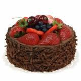 Pastel de crema de chocolate artificialmente Ø15cm H11,5cm