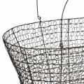 Bolsa de asa de cesta de alambre 34.5cm H22cm / 29cm H18.5cm juego de 2